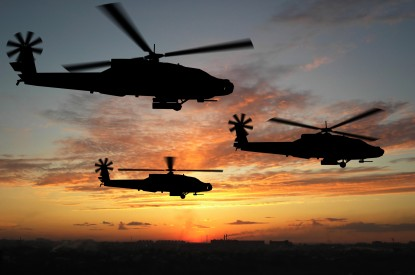 Apache, Apache helicopters, Sunset, HD, 2K