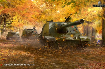 Chinese, Chinese tank destroyers, Autumn, World of Tanks, HD, 2K
