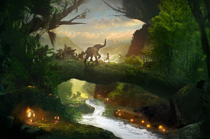 Forest, Stream, Playtime, Elephant, Forest, Stream, Playtime, Elephant, HD, 2K
