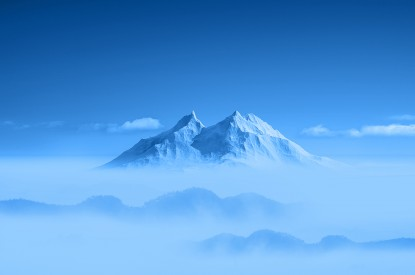 Mountain, Mountain peak, Blue, Above clouds, Mountains, Honor 6, Stock, HD, 2K