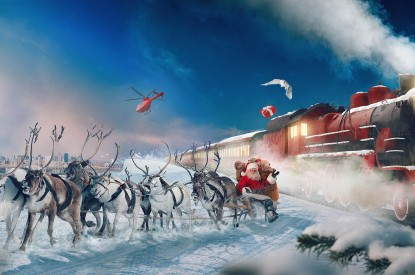 Polar, Polar Express, Reindeer Chariot, Santa Claus, Gifts, Winter, Snow, HD, 2K, 4K