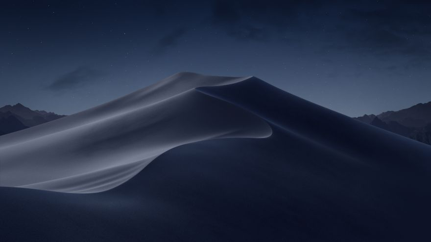 Desert, Dunes, Night, macOS, Desert, Dunes, Night, macOS Mojave, Stock, HD, 2K, 4K, 5K