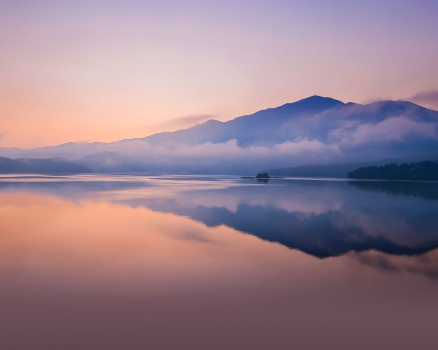 Sunset, Lake, Reflections, Mountains, Huawei, Sunset, Lake, Reflections, Mountains, Huawei MediaPad M5, Stock, HD, 2K