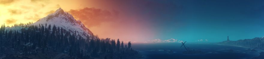 The, The Witcher 3: Wild Hunt, Landscape, Panorama, HD, 2K, 4K, 5K