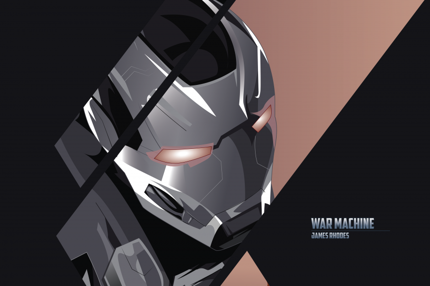 War, War Machine, James Rhodes, Minimal, HD, 2K, 4K